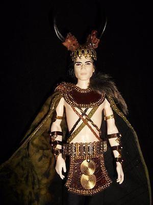 Loki Norse Mythology Trickster God Barbie Ken Doll OOAK Celtic Dakotas Song   eBay