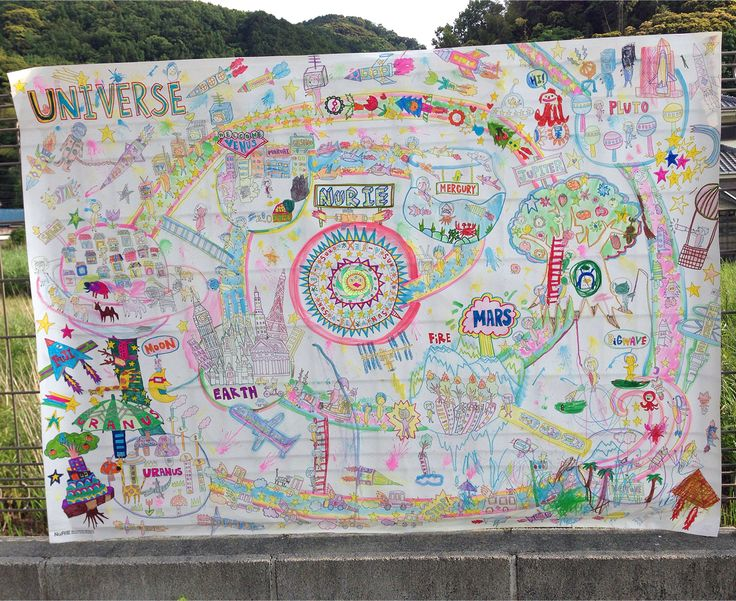 Fantastic completed NuRIE colouring map! - Universe