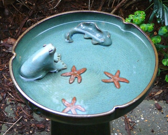 pottery bird bath designs
