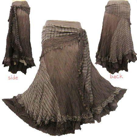 Beautiful layered gypsy skirt.