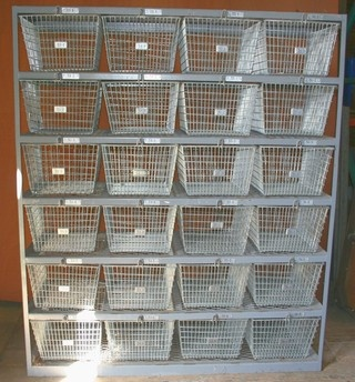 Awesome Vintage Wire Gym Baskets