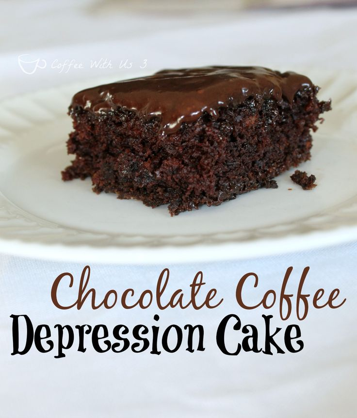 This Chocolate Coffee Depression Cake is moist and delicious, made from scratch, and uses no eggs, milk, or butter.