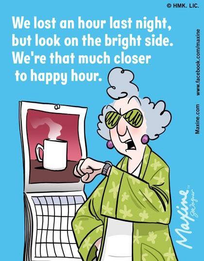 We lost an hour last night, but look on the bright side.  ღ We're that much closer to happy hour.