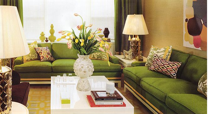 beautiful green living rooms | Beautiful Green Living Room Sofa with classic design