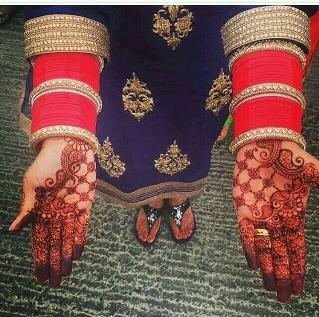 Wedding Chura #bride #chura #red #lovely #beautiful #viah #traditions #punjabi #thatalluringkaur FOR MORE FOLLOW PINTEREST : @reetk516