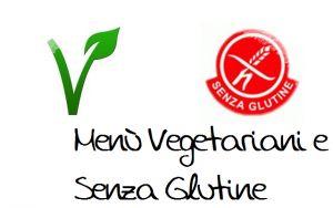 menu vegetariano e senza glutine