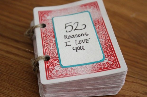52 Reasons I Love You:19 Great DIY Valentine's Day Gift Ideas for Him