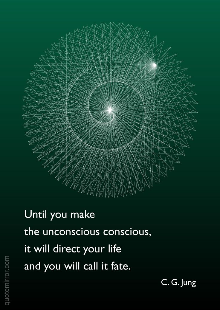 Until you make the unconscious conscious, it will direct your life and you will call it fate. –Carl Jung http://quotemirror.com/s/pnrkx #conscious #unconscious