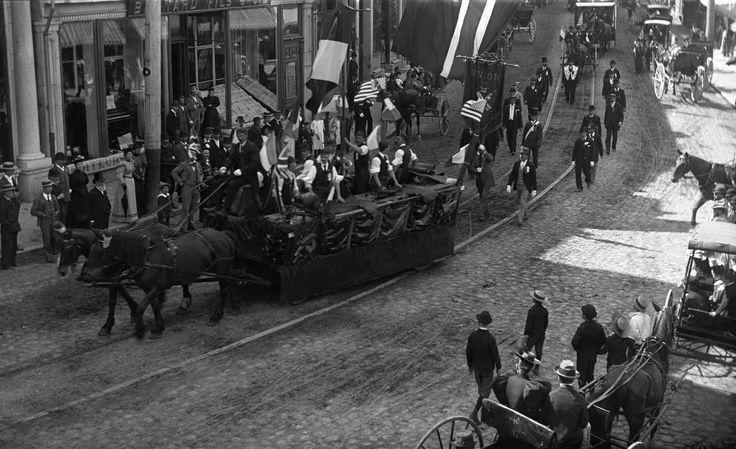parade fete du travaill 1895 a Québec