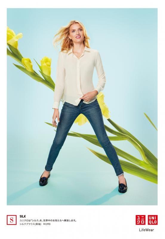 「ユニクロ」シルク、カシミヤを低価格で展開、広告にリリー・ドナルドソンやクロエ・セヴィニーを起用