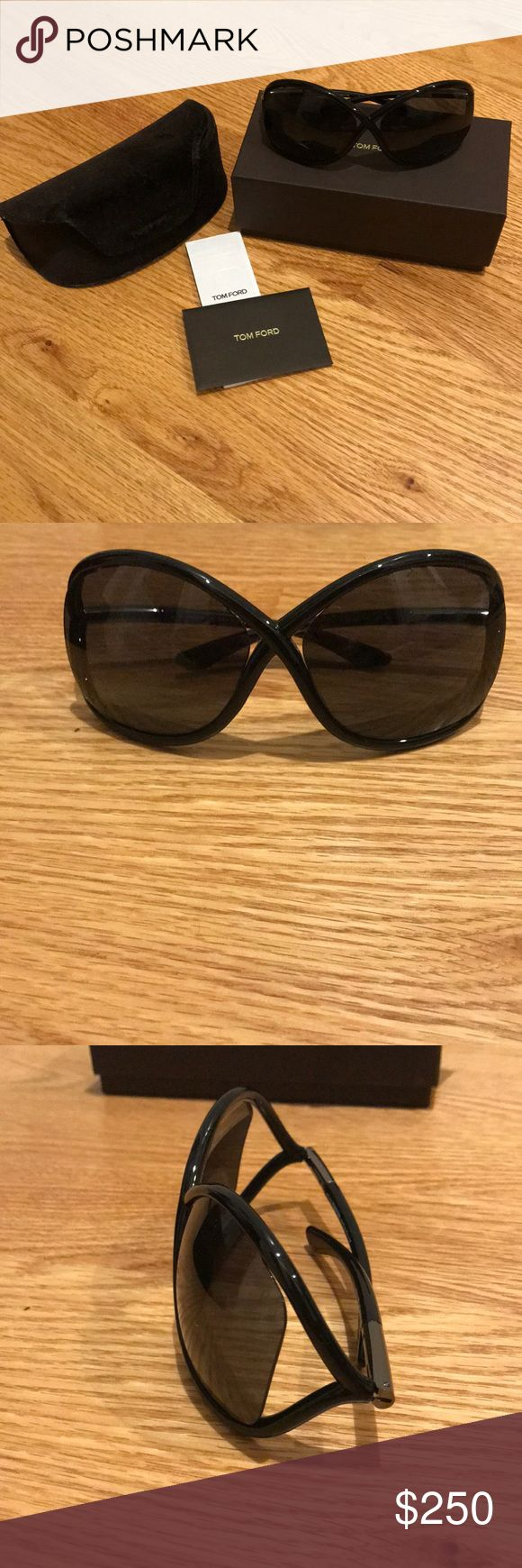 Tom Ford 🕶 Tom Ford 🕶   Brand new, never worn Tom Ford Whitney Sunglasses. Black. With original case, packaging, documents. Tom Ford Accessories Sunglasses