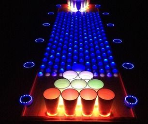 Interactive LED Beer Pong Table. Jimmy Fallon needs this !