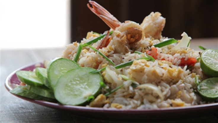 Try Thai Fried Rice with Prawns recipe from Marion Grasby as seen on Marion's Thailand