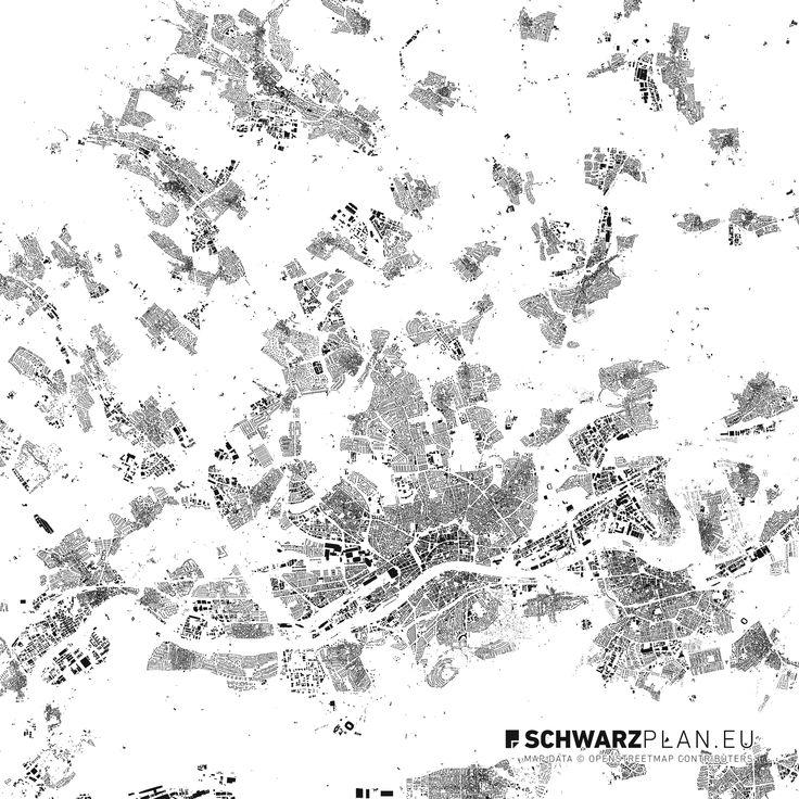 Schwarzplan & Lageplan von Frankfurt am Main - #frankfurt #schwarzplan #lageplan #map #siteplan #stadtplan #city