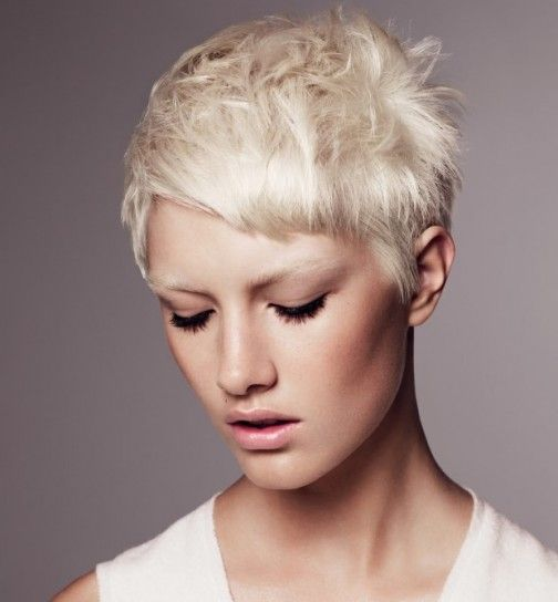 Capelli corti biondo platino - Capelli corti biondo platino, tra i tagli capelli corti più glamour del 2016.