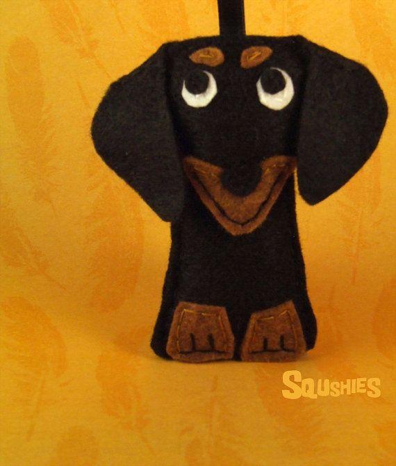 Dachshund - Felt Dog Ornament - Ralph the Doxie