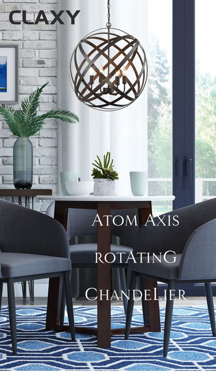 Globe Iron Dining Room Chandelier Rust Bronze Finish Chandeliers Pinterest And Lighting