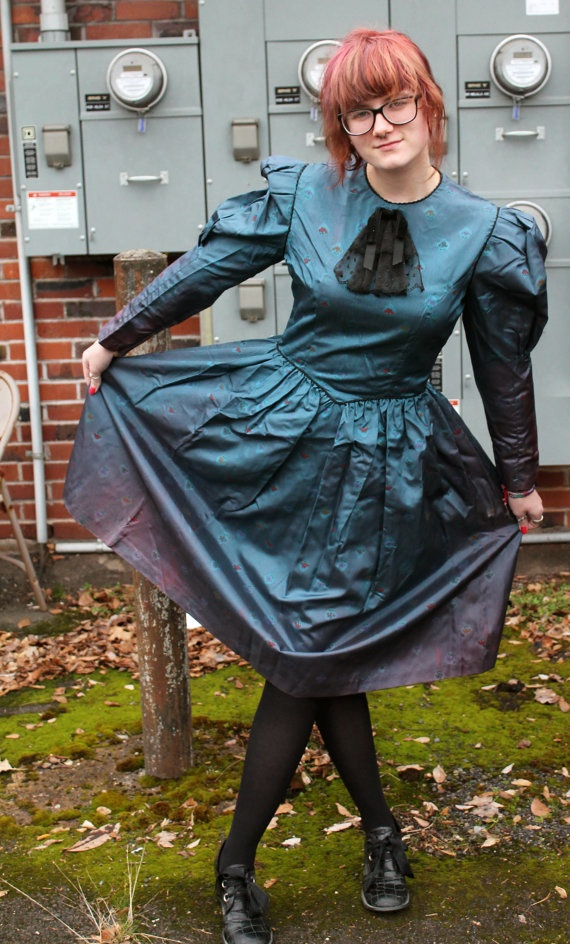 '80s Anthea Crawford Australian designer dress ~ would be excellent for Steampunk ensemble!