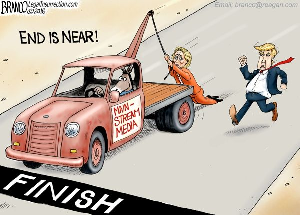 End of the 2016 Election is near with Clinton and Trump still very close, even with the media helping Hillary.