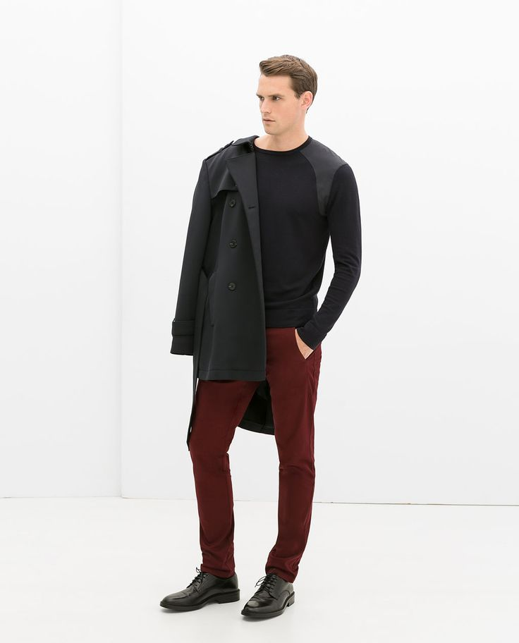 Image 1 of BASIC CHINO TROUSERS from Zara