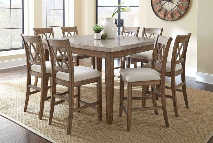 1000 ideas about counter height dining table on pinterest for 9 piece dining room sets square