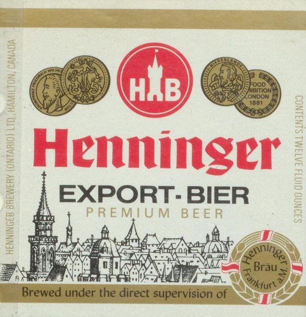 Henninger Export Bier by Thomas Fisher Rare Book Library, via Flickr