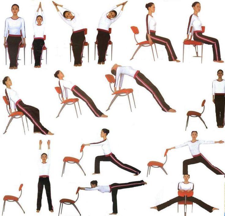 Espacio Yogi Bhajan Kundalini Yoga C.D.E_Py -Estiramientos con ayuda de una silla —