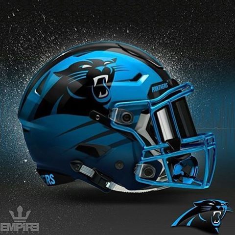 custom Carolina panthers helmet
