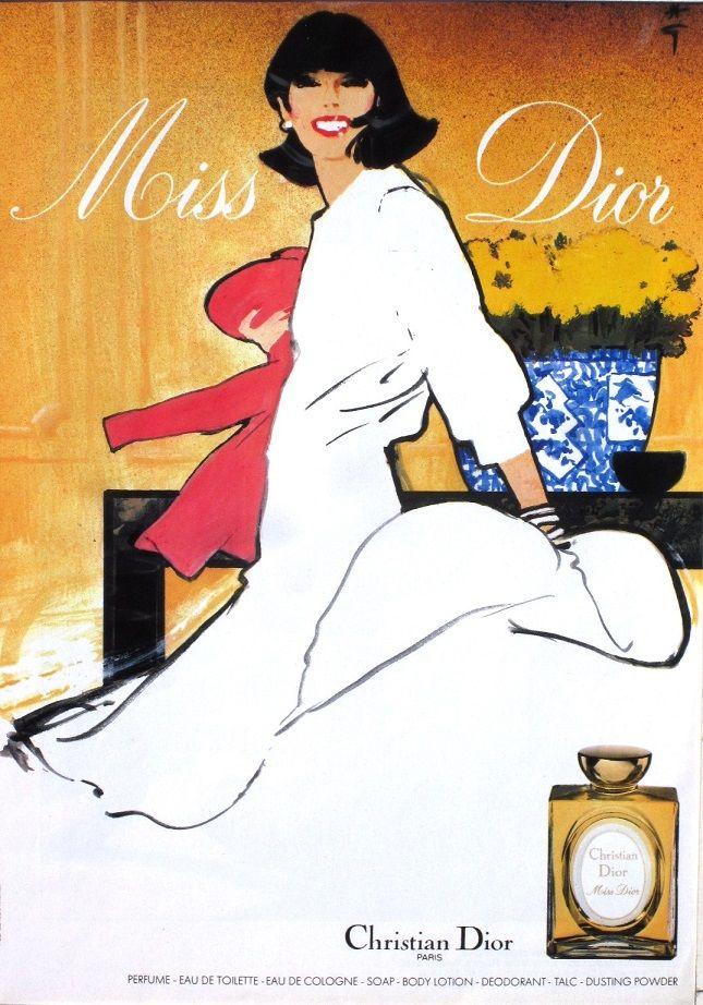 Miss Dior, Christian Dior (1970) by René Gruau