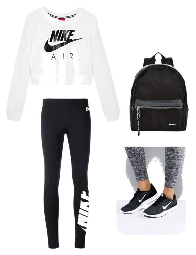 """""""Nikes"""" by kaylanigirl755 on Polyvore featuring NIKE"""