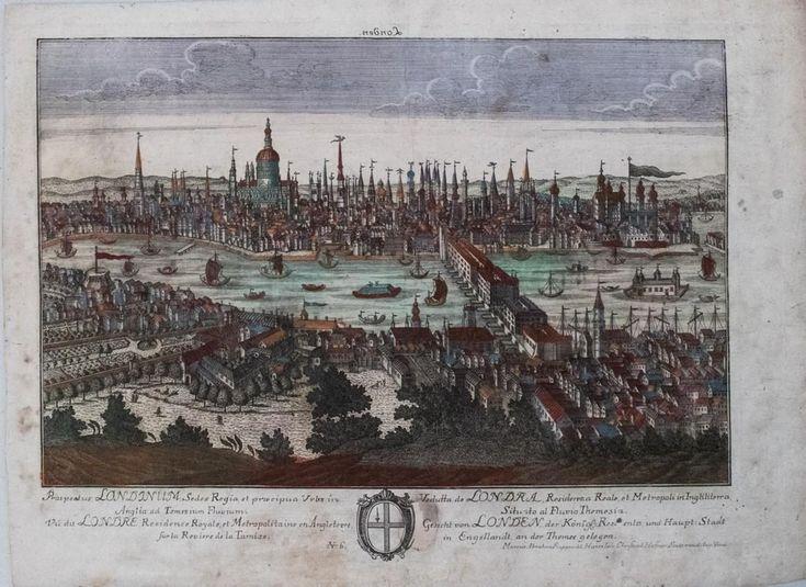 Rupprech/Haffner: Antique View of London, 1740