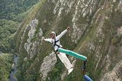 Bungy jumping from Bloukrans Bridge, Garden Route, South Africa
