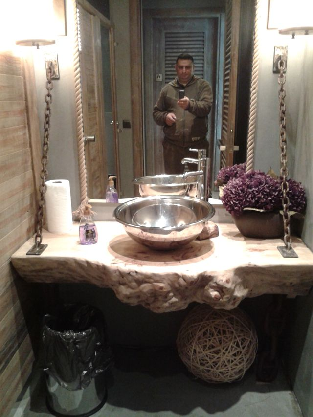 Kütük Ahşap Banyo Lavaboları 03