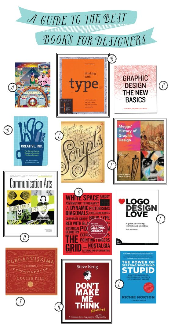 A Guide to the Best Books For Creative Designers