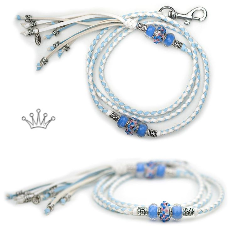 FOR SALE! Kangaroo leather show lead in baby blue & white. Interested? Visit the link for more information! * * * #showlead #showleads #showleash #dogshow #emoticon #emoticonleads #emoticonshowleads #kangarooleather #showdog #customlead #customshowlead #dogshows #utställningskoppel #kangarooleatherlead #dogshowlead