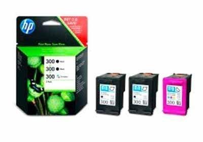 HP Value Pack Tintenpatrone 2x HP 300 schwarz und 1x HP 300 farbig 3er Pack