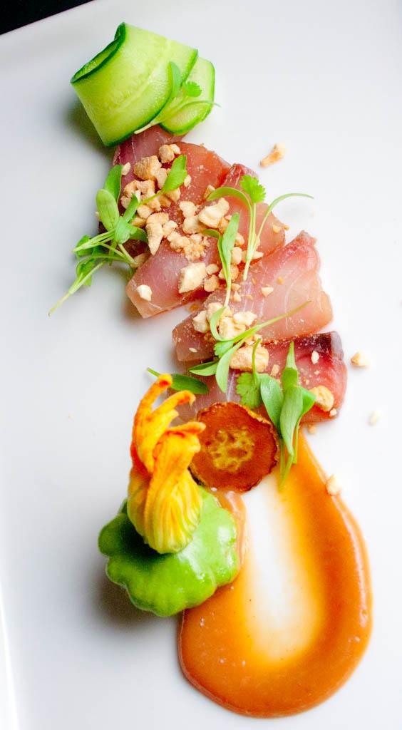 Présentation entrée / Food Presentation - Food Styling - Food Plating - orange and greens