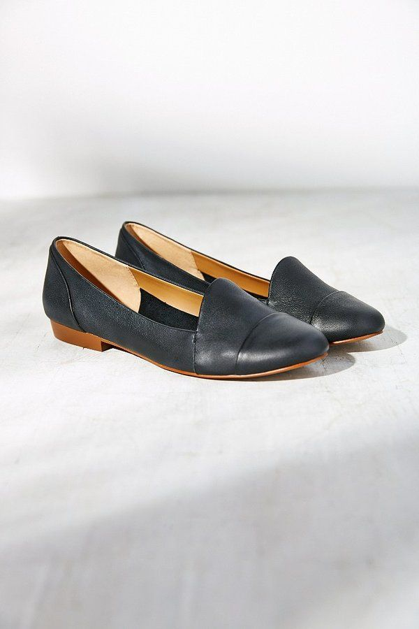 $100, Black Leather Loafers: Brooklyn Dancer Leather Loafer by Kelsi Dagger. Sold by Urban Outfitters. Click for more info: http://lookastic.com/women/shop_items/128677/redirect