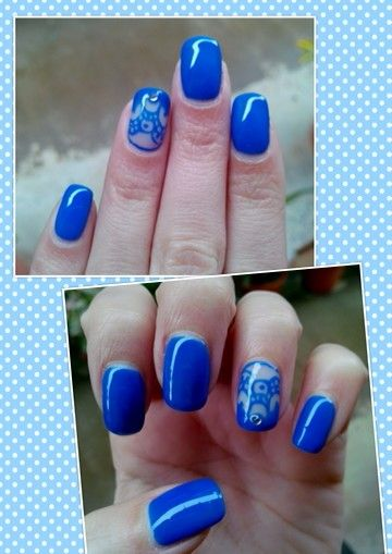 Blue nails by Mara Andrade <3
