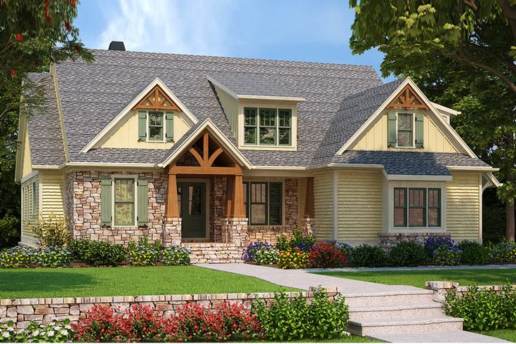 Craftsman Style House Plan - 4 Beds 3.50 Baths 2599 Sq/Ft Plan #927-983 Exterior - Front Elevation - Houseplans.com