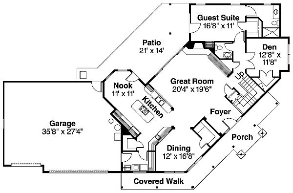 Country Farmhouse House Plan 69728 Level One