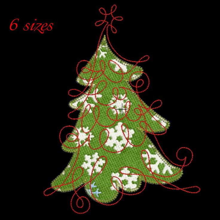 Christmas tree applique machine embroidery design,Christmas tree design,digital download,Christmas tree pattern, gift towel by GretaembroideryShop on Etsy