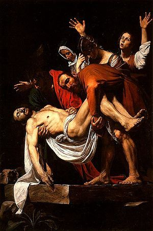 Caravaggio's Deposition from the Cross - good example of tenebrism - Southern Baroque often used the diagonal - Council of Trent in post-reformation reaction encouraged art that would excite and educate