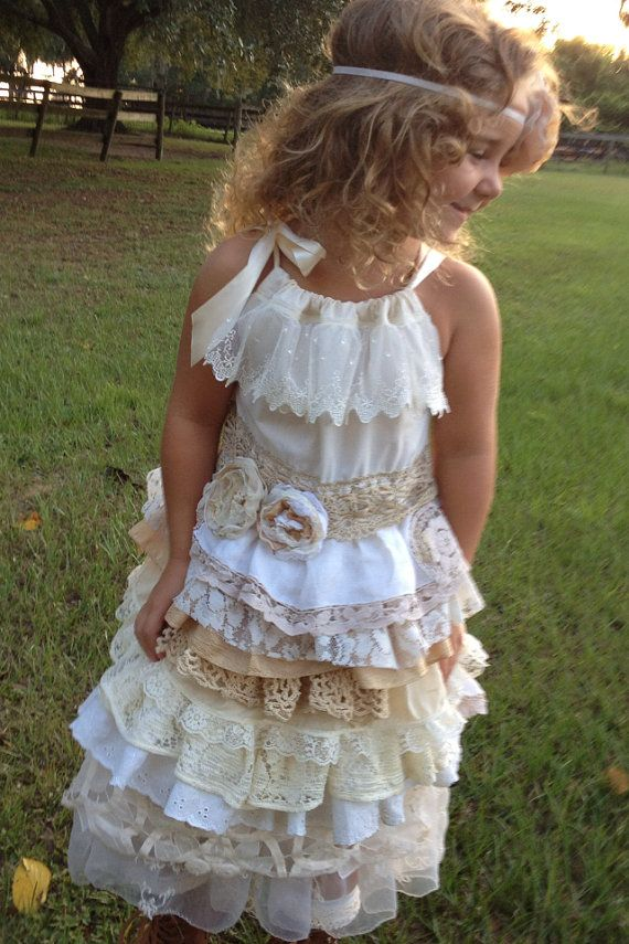 BOHO Country Chic Cottage Dress Vintage little girl by RainRene...for My Ara... :)