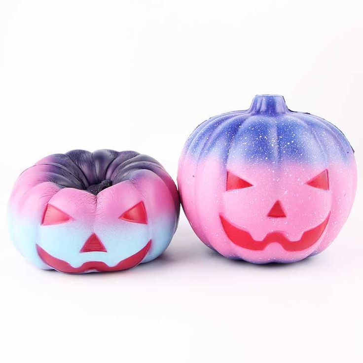 SanQi Elan Squishy Pumpkin 12cm Galaxy Multicolor Soft Slow Rising With Packaing Collection Toy