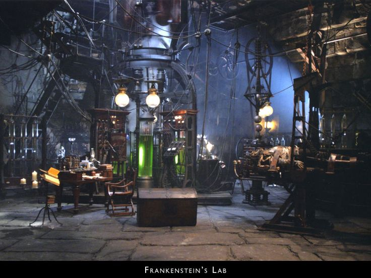 Steve Arnold Van Helsing Steampunk Mad Scientist Lab