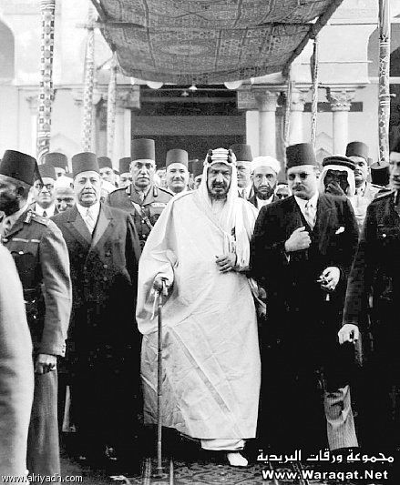 King Abdelaziz Al-Saud of Saudi Arabia and King Farouk of Egypt .
