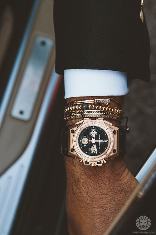 Anil Arjandas jewelry and Linde Werdelin timepiece
