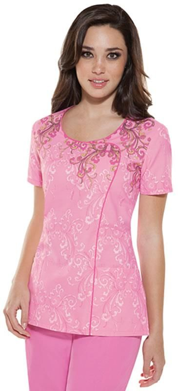 Scrubs - Baby Phat If It's Not Baroque Contrast Scrub Top | Baby Phat Scrubs | Brands | www.LydiasUniforms.com