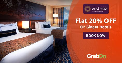 Hotel Stays Got Cheap & Cheerful! #Vistara Offers Flat 20% Off On Ginger Hotel Bookings. http://www.grabon.in/vistara-coupons/ #SaveOnGrabOn